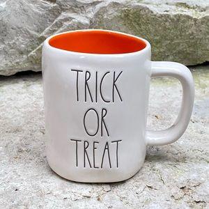 Rae Dunn TRICK OR TREAT Mug with Orange Interior